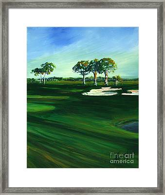 On The Fairway Framed Print by Michele Hollister - for Nancy Asbell
