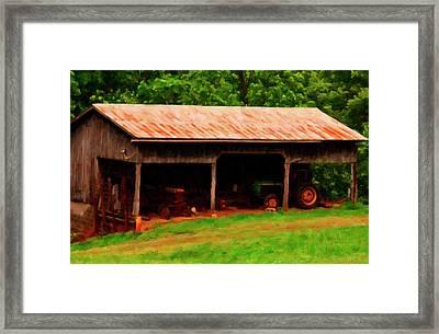 On The Farm Framed Print by Chris Flees