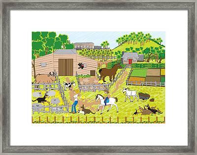 On The Farm Framed Print by Diana-Lee Saville