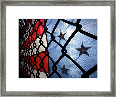 Framed Print featuring the photograph On The Fence by Robert Geary