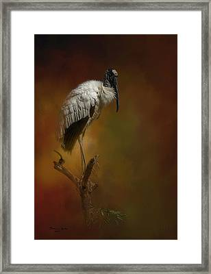 On The Fork Framed Print