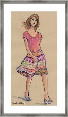 On The Go Fashion Illustration Framed Print