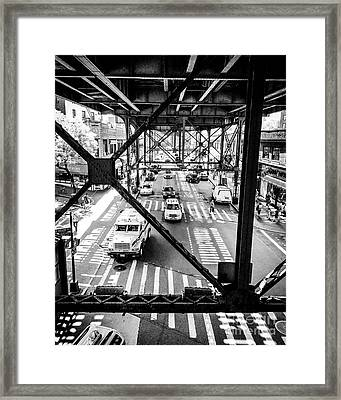 On The Go In Queens, Ny Framed Print by JMerrickMedia