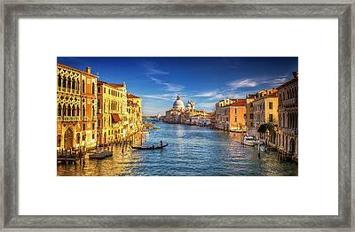 Framed Print featuring the photograph On The Grand Canal by Andrew Soundarajan
