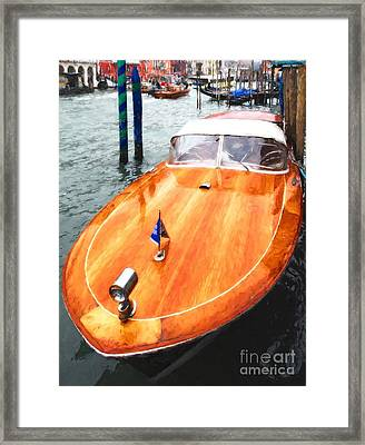 On The Grand Canal Framed Print by Mel Steinhauer