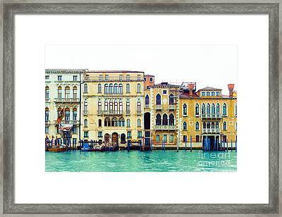 On The Grand Canal Framed Print