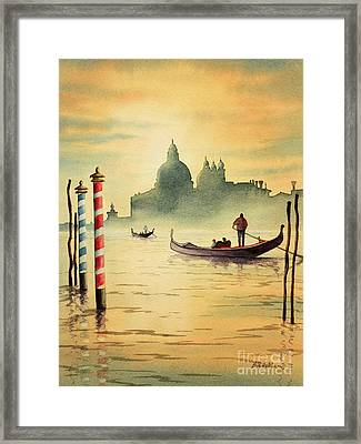 On The Grand Canal Venice Italy Framed Print by Bill Holkham