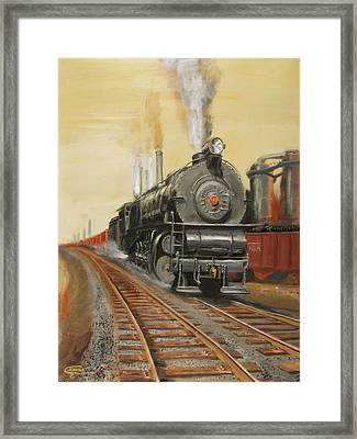 On The Great Steel Road Framed Print by Christopher Jenkins