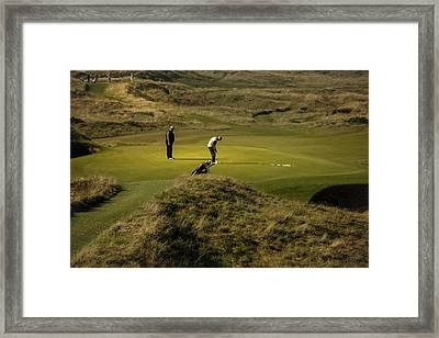 On The Green The Postage Stamp - Royal Troon Golf Course Framed Print