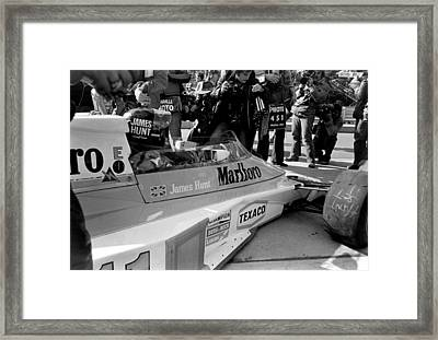 On The Grid Framed Print