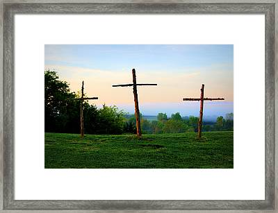 On The Hill Framed Print by Cricket Hackmann