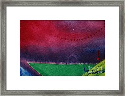 On The Horizon Framed Print by Ann Sokolovich