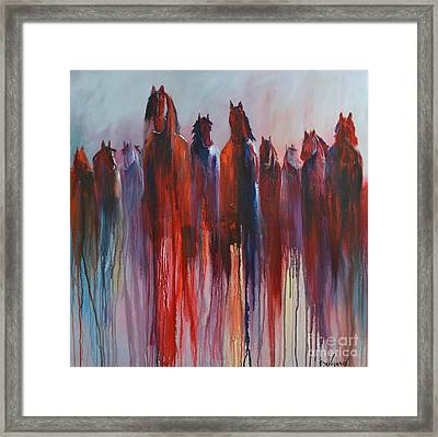 Framed Print featuring the painting On The Horizon by Cher Devereaux