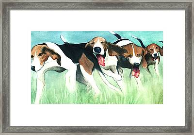 On-the-hunt Framed Print by Anne Havard