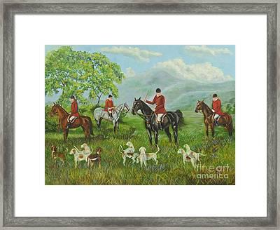 On The Hunt Framed Print by Charlotte Blanchard