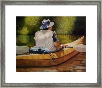 On The Kickapoo Framed Print by Marcia  Hero
