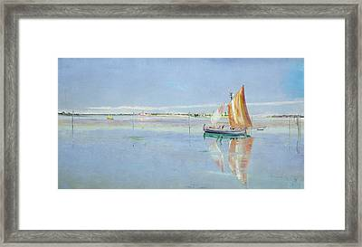 On The Lagoon Framed Print by John William Inchbold