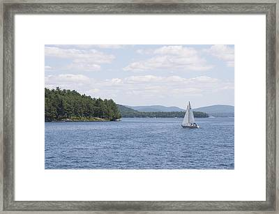 On The Lake Framed Print by Paul Godin