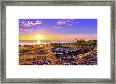 Framed Print featuring the photograph On The Last Shore by Dmytro Korol