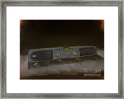 On The Level Framed Print