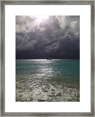 On The Lighted Path  Framed Print by Clay Cofer