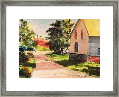 On The Line Framed Print by John Williams