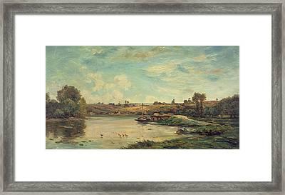 On The Loire Framed Print by Charles Francois Daubigny