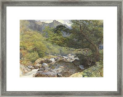 On The Lyn, North Devon Framed Print by William Henry Millais