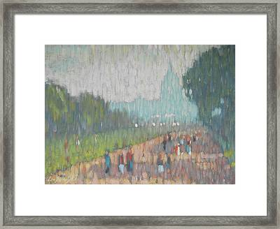 On The Mall Framed Print