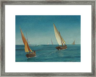On The Mediterranean  Framed Print