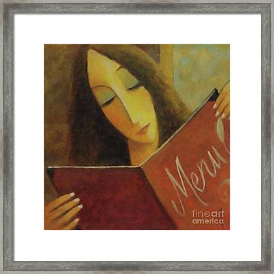 Framed Print featuring the painting On The Menu by Glenn Quist