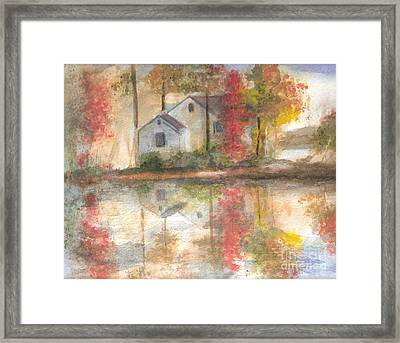 On The  Mighty Fraser Framed Print by Vivian  Mosley