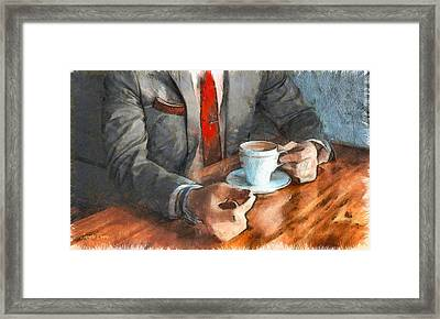 On  The Money - Pa Framed Print