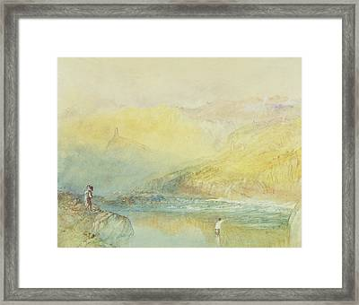 On The Mosell, Near Traben Trarabach Framed Print by Joseph Mallord William Turner