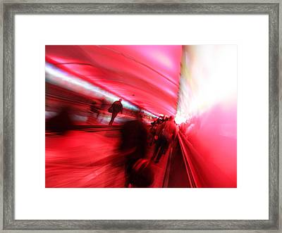 On The Move Framed Print by Elizabeth Hoskinson