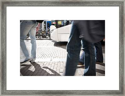 On The Move Framed Print by Krista  Corcoran Photgraphy