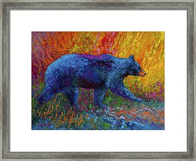 On The Move Framed Print by Marion Rose