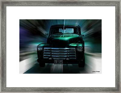 On The Move Truck Art Framed Print