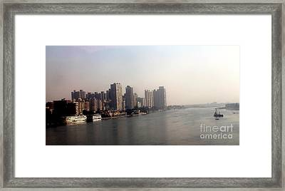 On The Nile River Framed Print