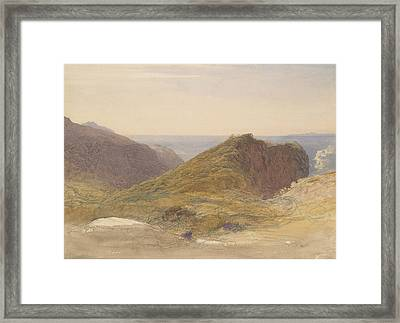 On The North Coast Of Devon, Lundy Island In The Distance Framed Print
