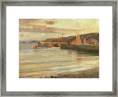 On The North Devon Coast Framed Print by Frank Dicksee