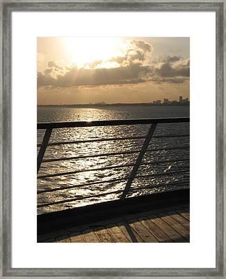On The Ocean Framed Print by April Camenisch