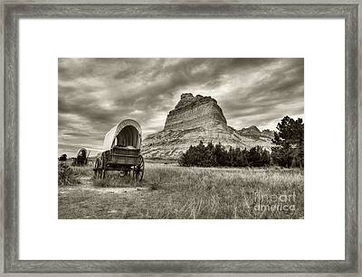On The Oregon Trail # 2 Sepia Tone Framed Print by Mel Steinhauer