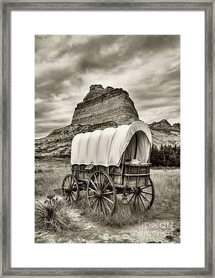 On The Oregon Trail # 3 Sepia Tone Framed Print