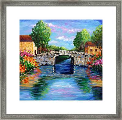 On The Other Side Of The Bridge Framed Print