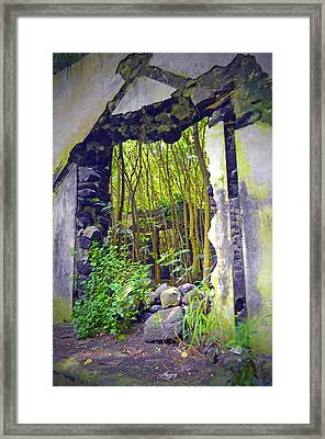 On The Other Side Of The Wall Framed Print by Tara Turner