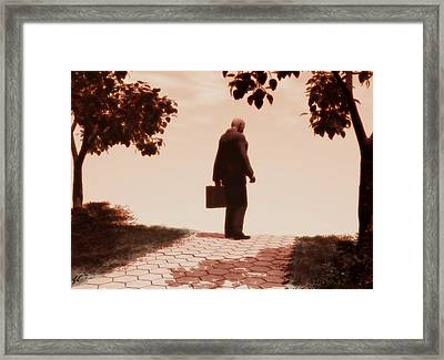 On The Path To Nowhere Framed Print