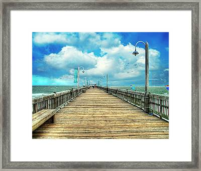 On The Pier At Tybee Framed Print