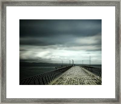 Framed Print featuring the photograph On The Pier by Perry Webster