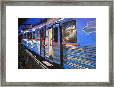 On The Platform Framed Print by Art Nomad Sandra  Hansen